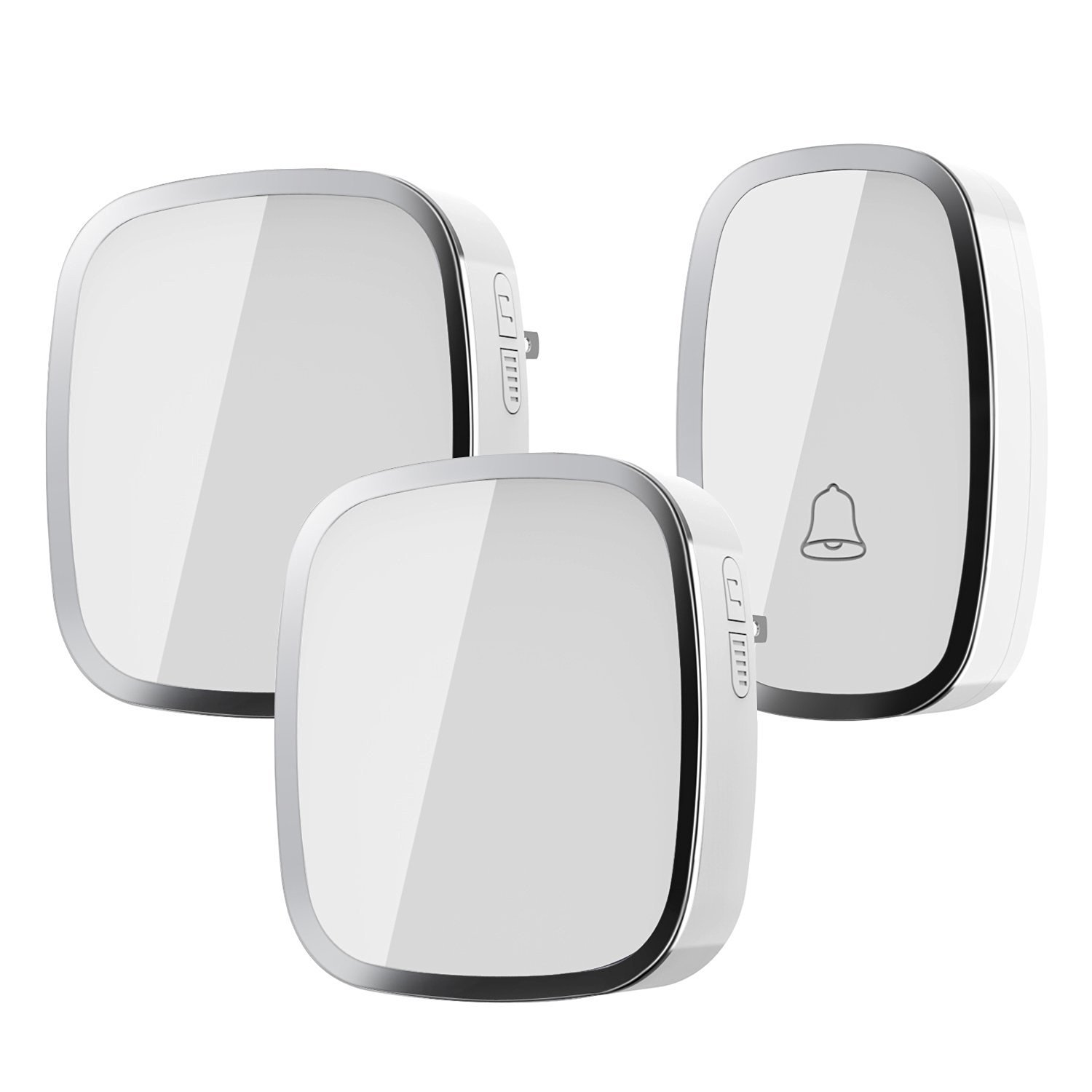 Wireless Doorbell, Wall Plug-in Cordless Door Chime at 1000-feet Range with 36 Tunes, Without Battery Required