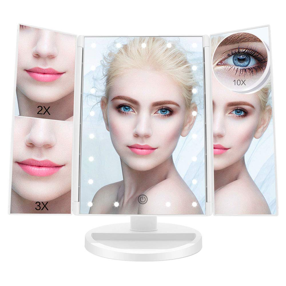 Makeup Mirror with Light Tri-Fold 21 LED Illuminated Vanity Mirror