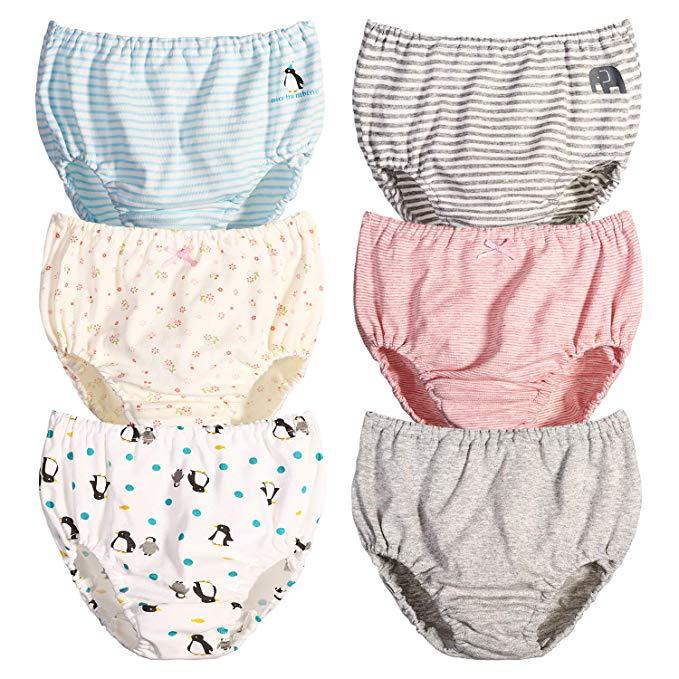 IPBEN 6 Pack Girls Knicker, Underwear for Kids Children