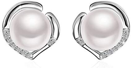 J.Rosée Pearl Stud Earrings 925 Sterling Silver Freshwater Cultured Pearl