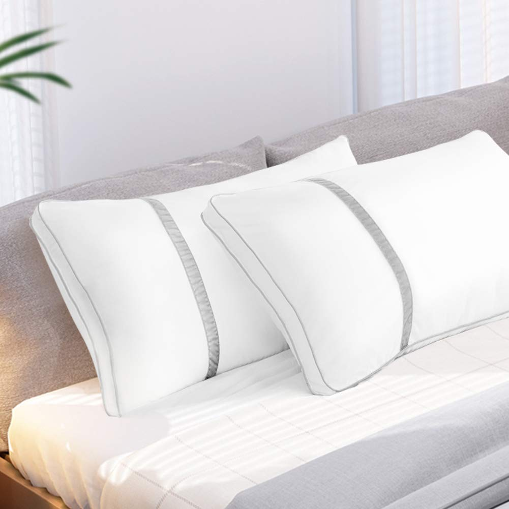 BedStory 2 Pack Sleeping Pillows, Hotel Pillow Down Alternative Dust Mite Resistant & Hypoallergenic