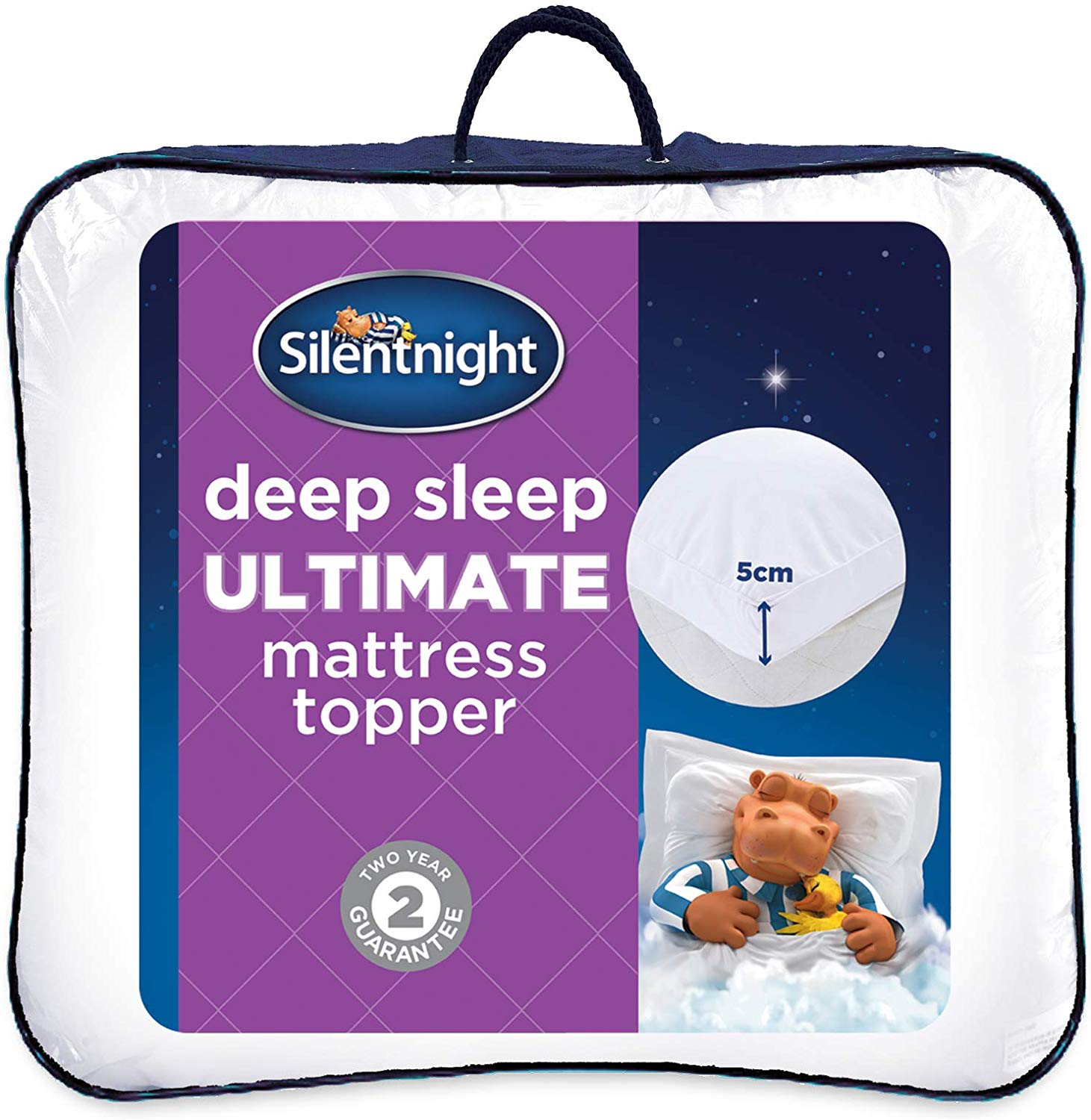 Silentnight Ultimate Deep Sleep Topper, White, Double