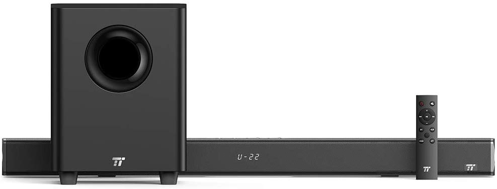 TaoTronics Sound Bars for TV 120W 2.1 Channel Sound bar with Subwoofer Wired & Wireless Bluetooth 4.2 Speakers