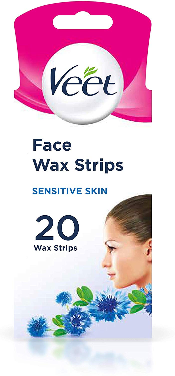 Veet Face Cold Wax Strips, 10 Double Sided Strips, Pack of 20
