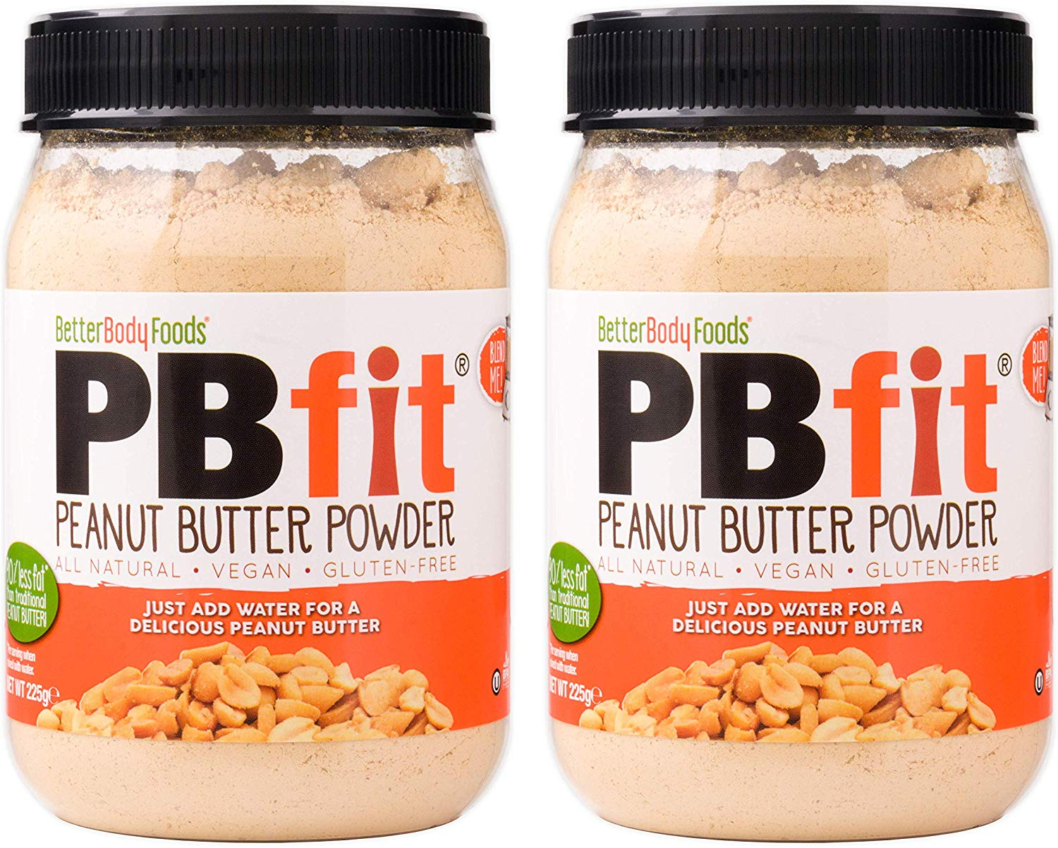 PBfit All-Natural Peanut Butter Powder, 225g (Pack of 2)
