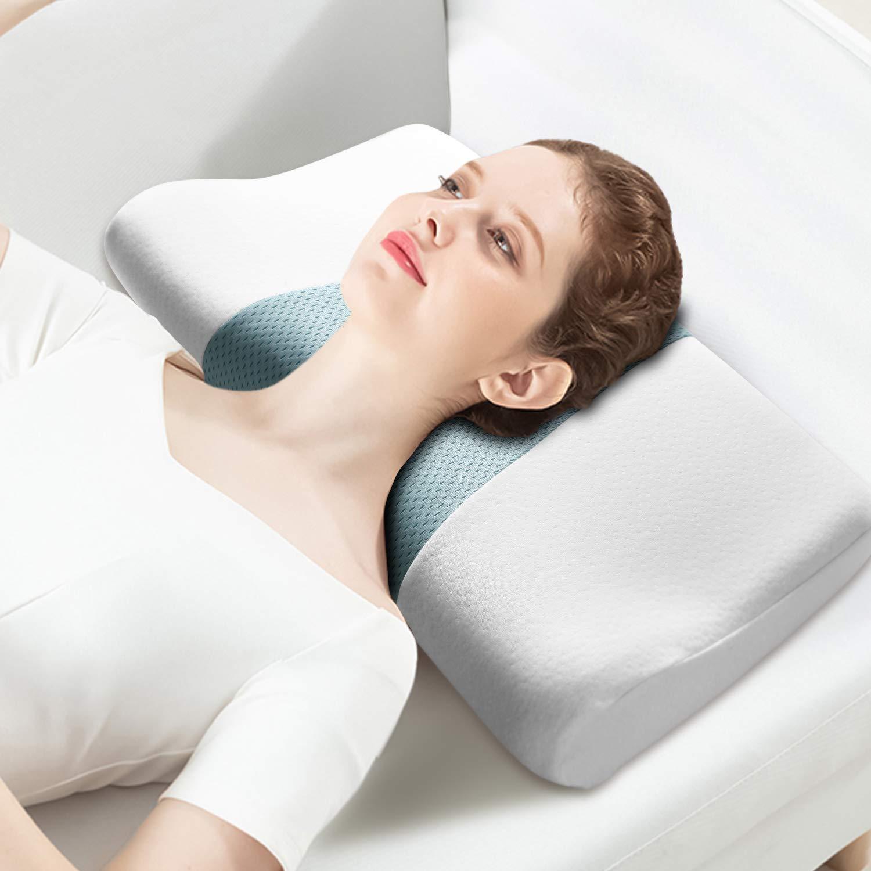 Housefar Contour Memory Foam Pillow, Orthopedic Pillows, Cervical Pillow for Neck Pain