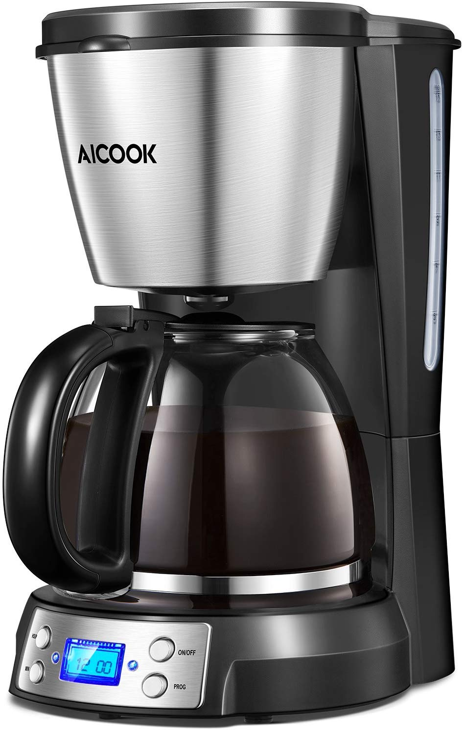 Coffee Maker, Aicook Filter Coffee Machine, 12 Cup Programmable Coffee Makers