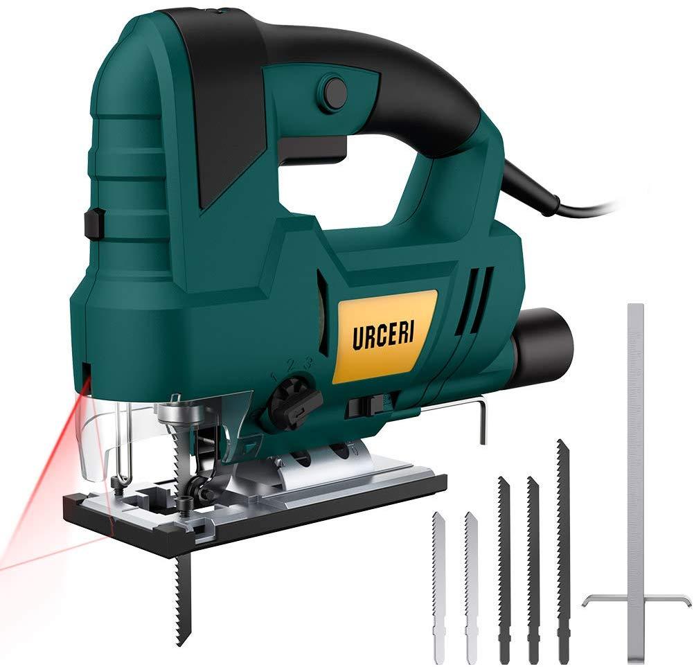 URCERI Jig Saws 810W 3000 SPM, 6 Step Speed Dial Jigsaw Tools