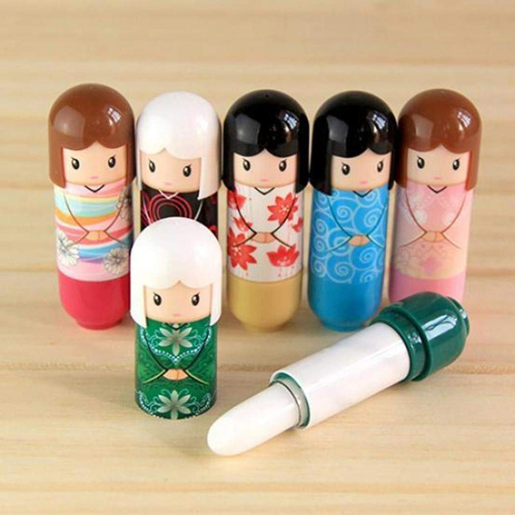 80% off Random Color Cute Dolls Moisturizing Exfoliating Anti-Cracking Lip Balms