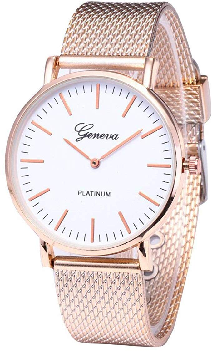 80% off Women Fashion Round Dial PU Band Quartz Wrist Watch