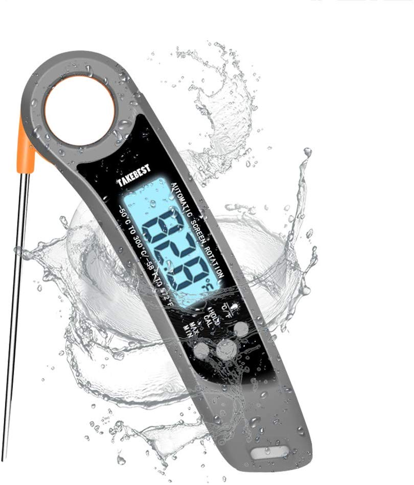Digital Instant Read Meat Thermometer, Fast & Auto On/Off [Battery Included]