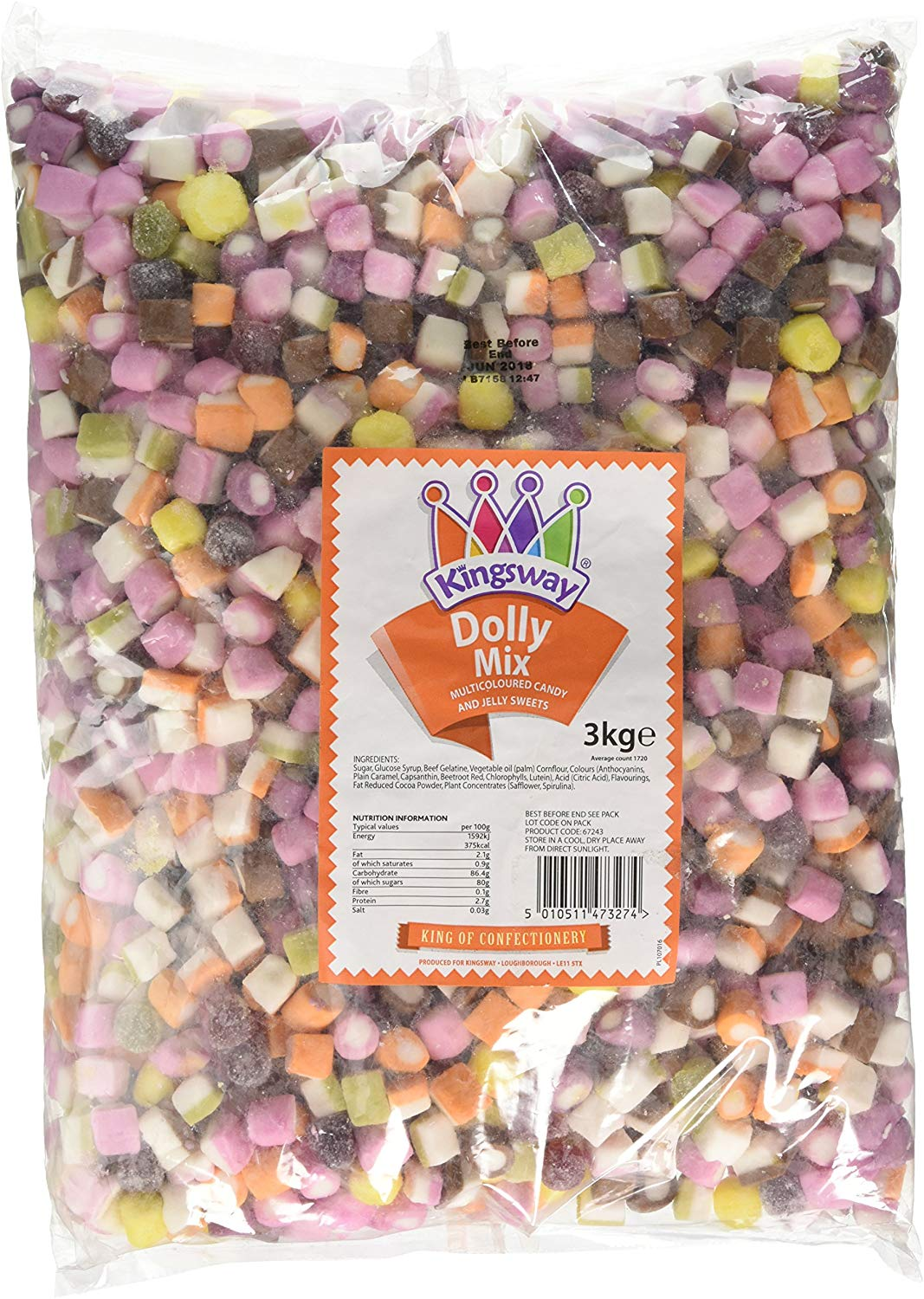 Barratt Dolly Mixture (3kg Bag) FREE delivery