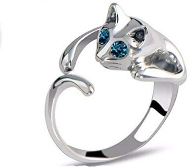 Lovely Silver Plated Kitten Cat Ring Free Delivery