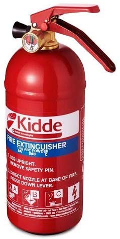 Kidde KS1KG Multi-Purpose Fire Extinguisher, Red, 1 kg (285 x 95 x 125 mm)