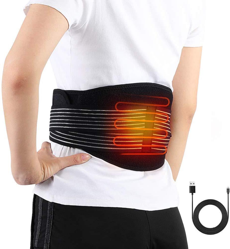 Electric Heating Waist Belt Wrap, Lower Back Heat Belts & Lumbar Therapy Heating Pads
