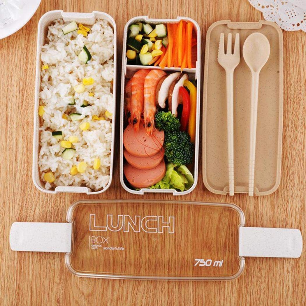 80% off Durable Portable Multifunctional Three Layered Partition Lunch Box Bowls