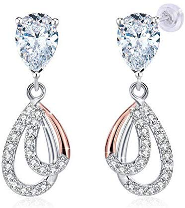 J.Rosée Christmas Earrings Gift, 925 Sterling Silver High Polished Earrings