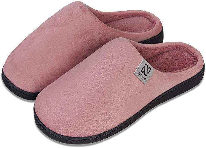 Ladies Mens Comfort Memory Foam Slippers