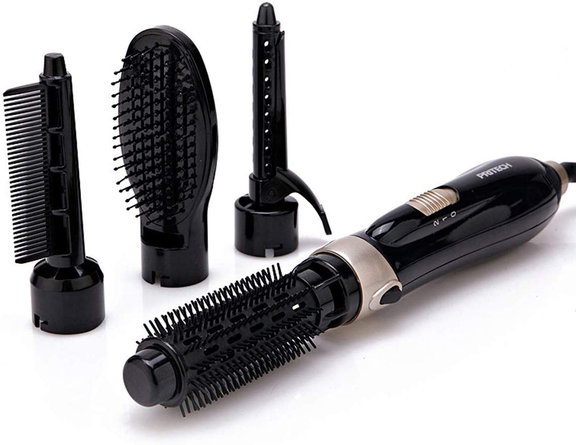PRITECH 4 in 1 Hot Air Styling Brush Hair Dryer/Curler/Straightener