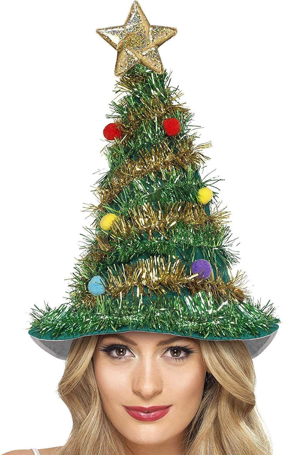 Smiffys Christmas Tree Hat FREE delivery