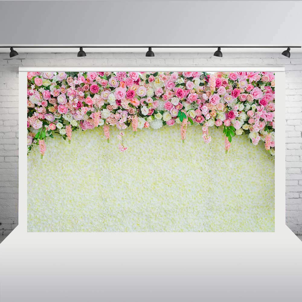Aisnyho floral backdrop bridal shower background for Photography Wedding Party Photo Decoration 7 * 5FT