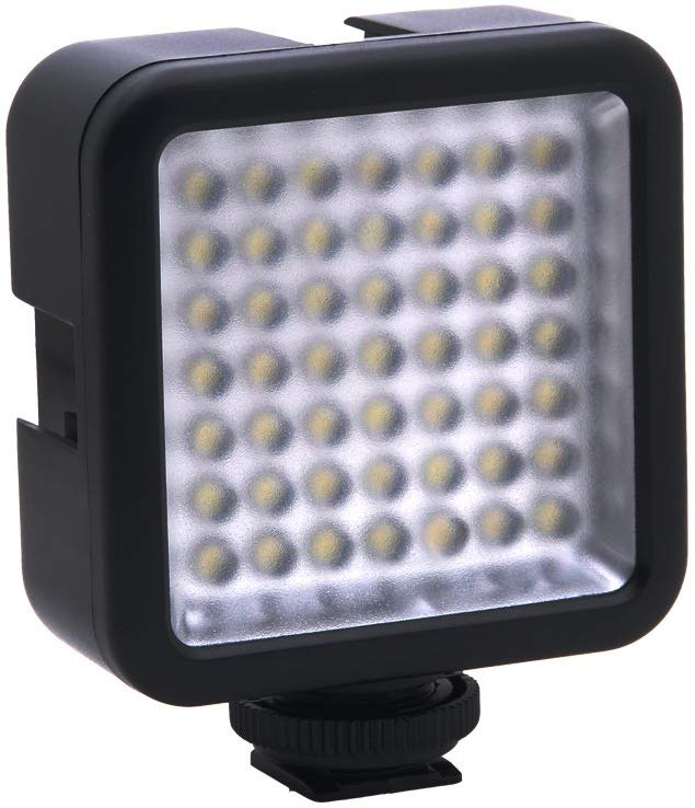 49 LED Video Light Ultra Bright Dimmable Mini Panel Video Light for Gimbal Stabilizer for Digital DSLR Cameras