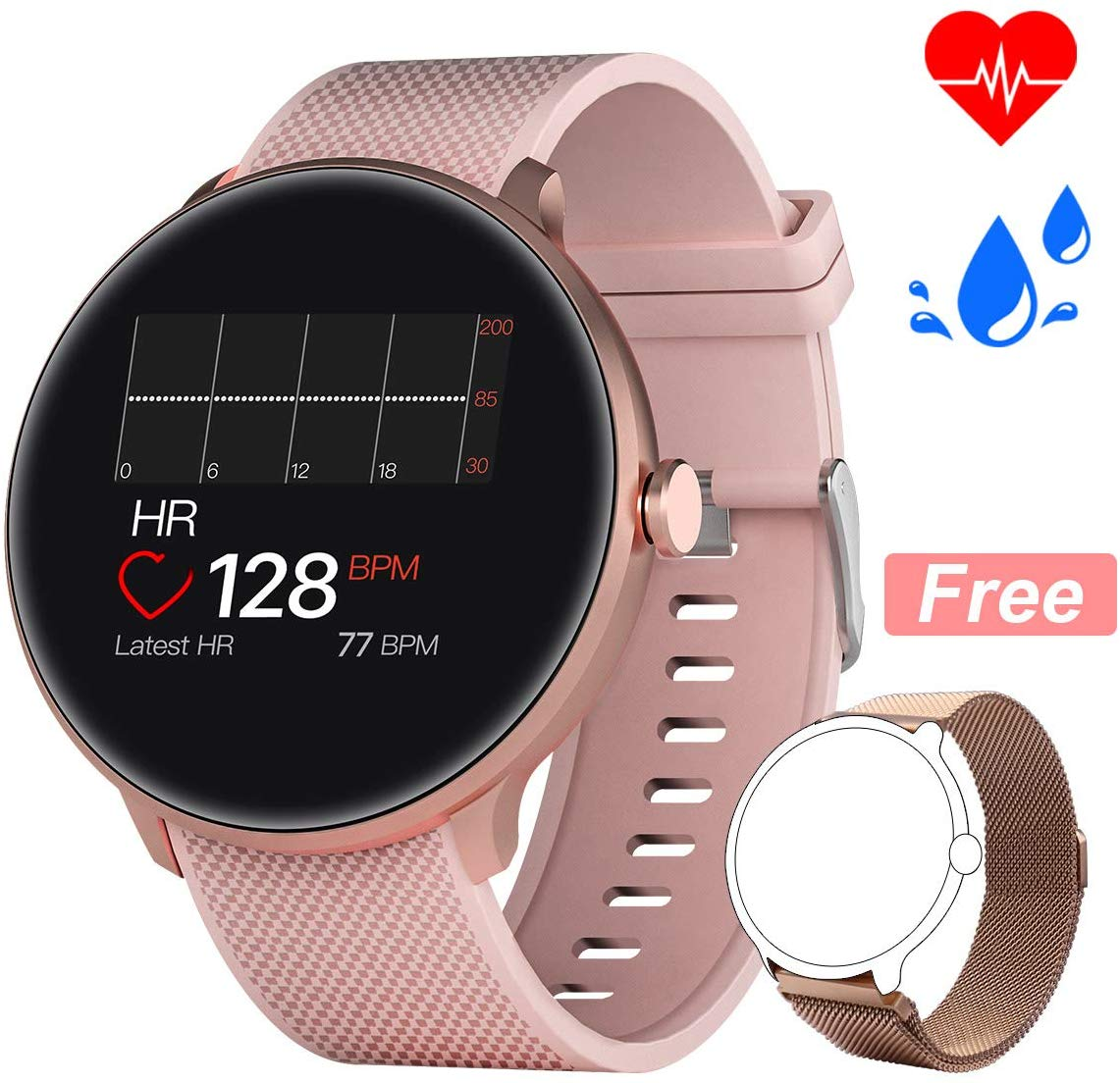 Bebinca Smart Watch, Bluetooth Sport Watch Fitness Tracker with TouchScreen