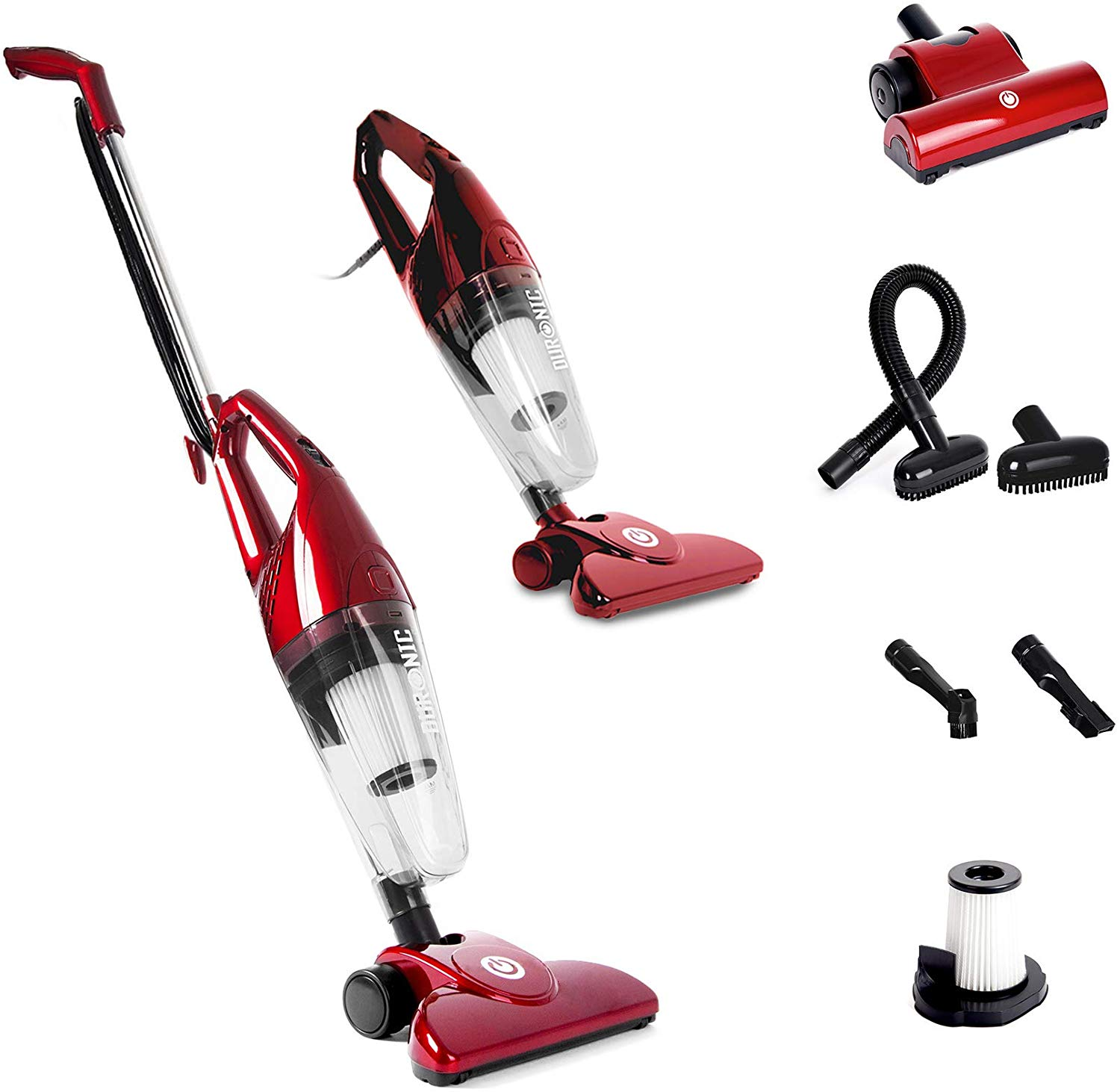 Duronic VC7/RD Upright Stick Vacuum Cleaner Handheld