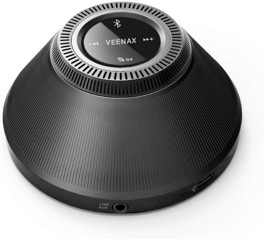 VEENAX PS10 Bluetooth Mini Speakers, Portable Speaker with Touch Screen