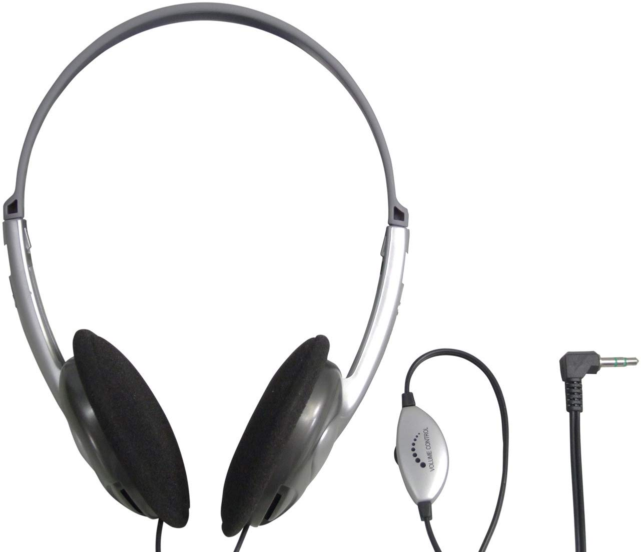 SoundLAB Lightweight Stereo Headphones with Volume Control