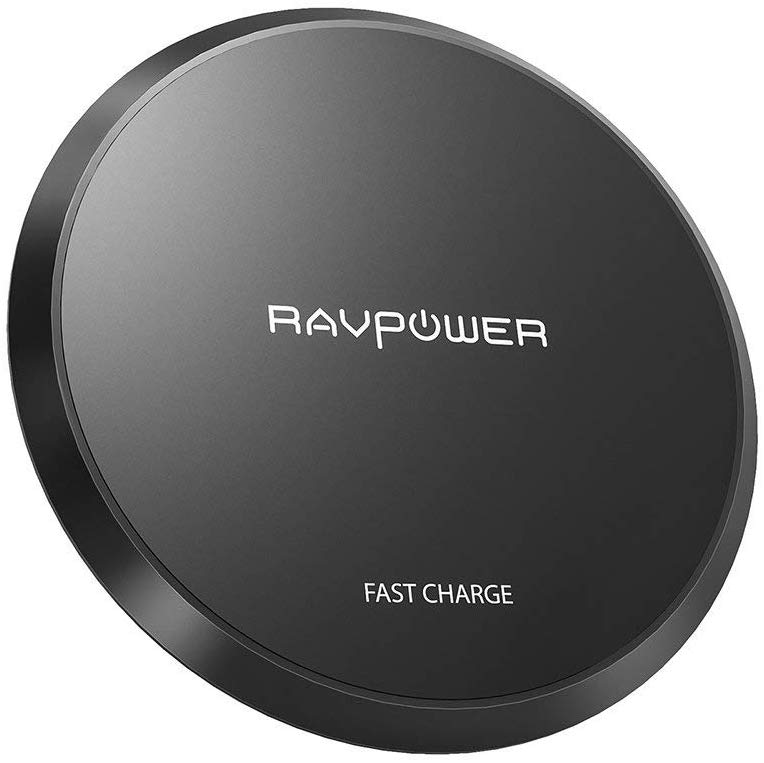 RAVPower Wireless Charger Upgraded Qi-Certified Wireless Charging Pad 10W Fast Charger