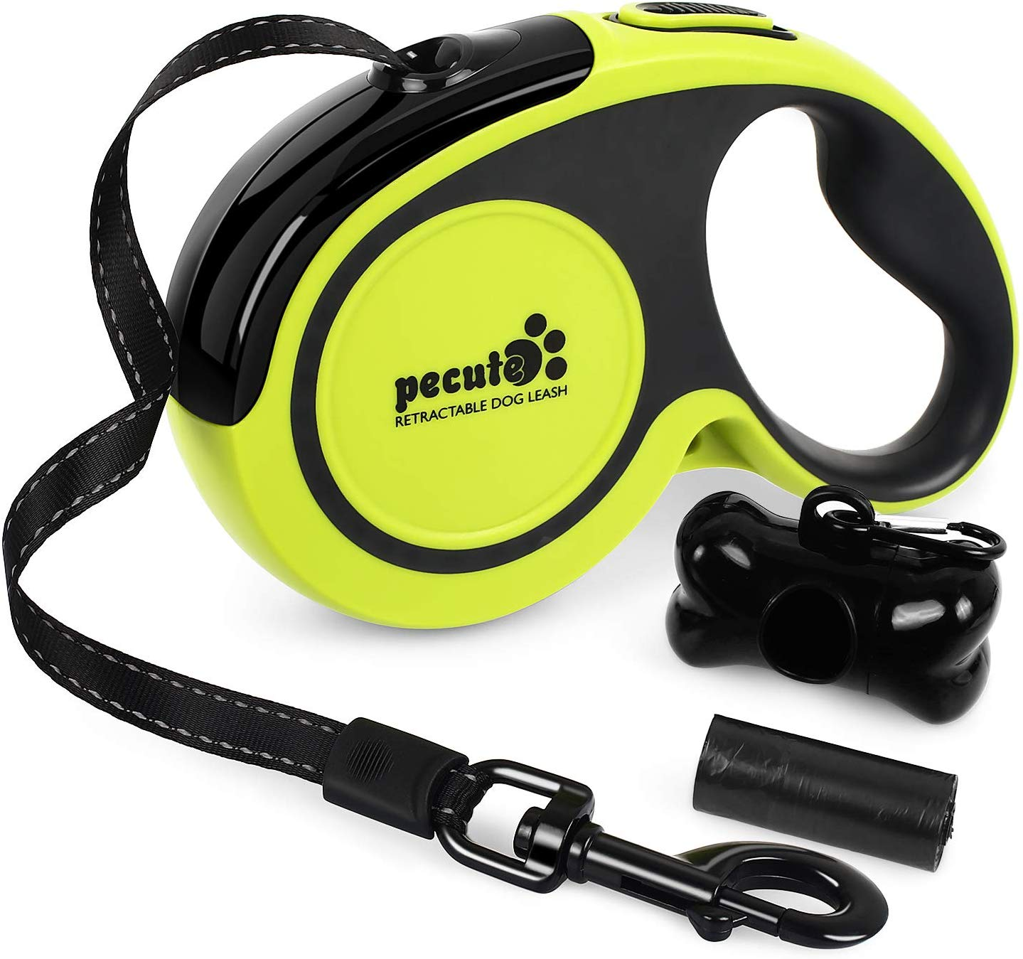 Pecute Retractable Dog Lead – Easy One Button Brake & Lock – Extends up to 16 Feet of Freedom