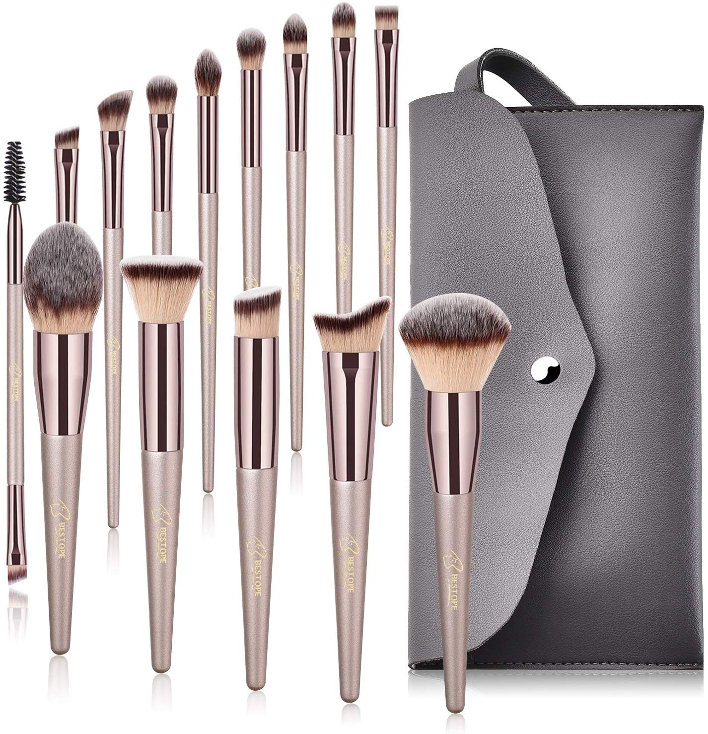 Makeup Brushes BESTOPE 14 Pcs Premium Synthetic Make up Brushes