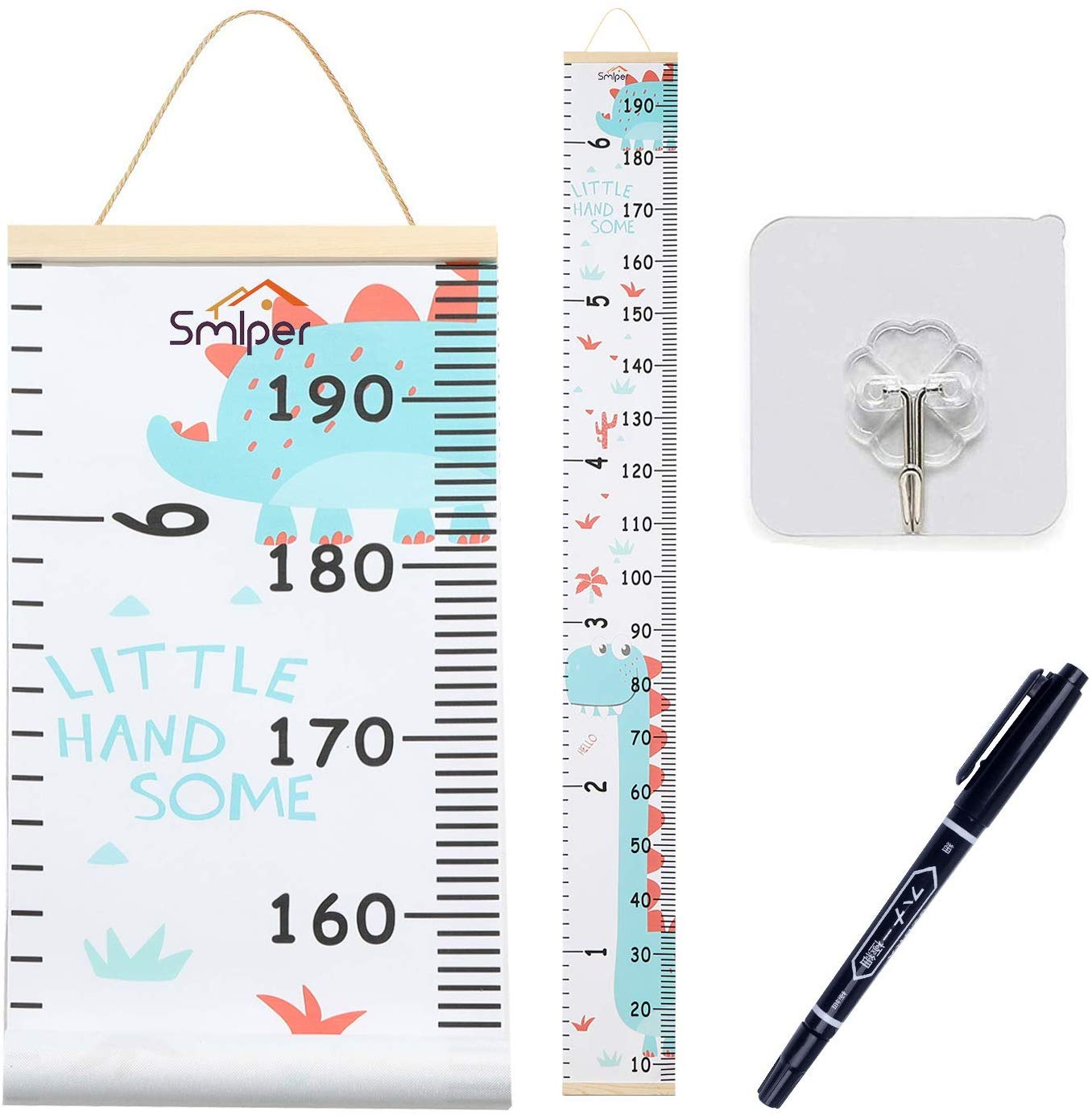 Smlper Baby Growth Chart, Removable Canvas Height Measurement Ruler,79″x7.9″