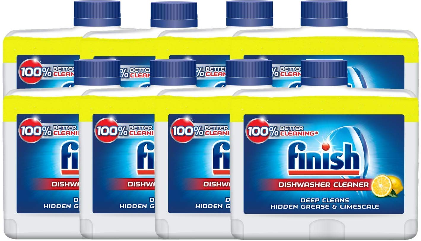Finish Dishwasher Machine Cleaner, 250ml – Pack of 8