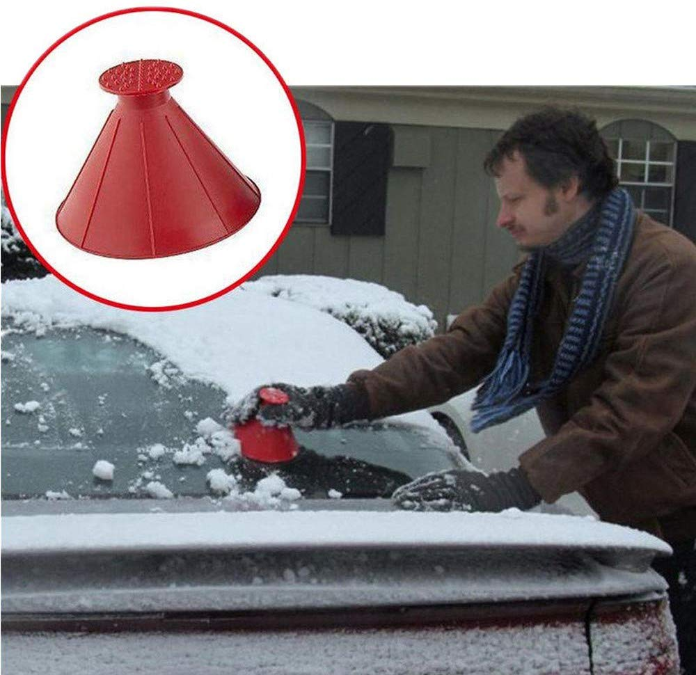 Cone-Shaped Car Windshield Snow Removal Window Cleaning Tool