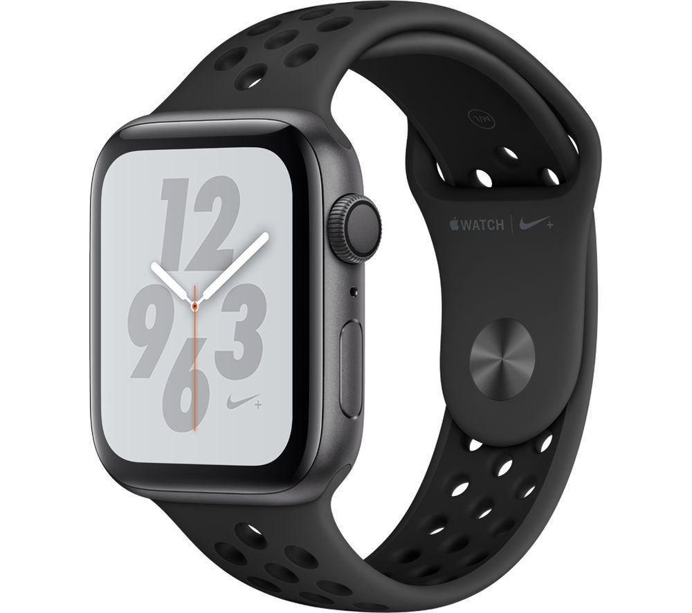 APPLE Watch Series 4 Nike+ – Space Grey & Anthracite Sports Band, 44 mm