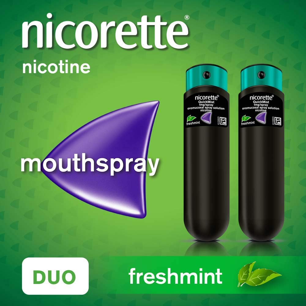 Nicorette QuickMist Mouth Spray Duo Pack,1 mg (Stop Smoking Aid)