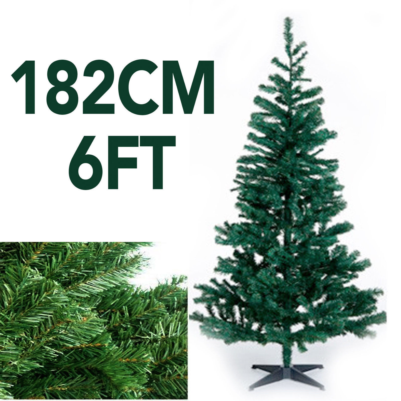 Green Artificial XMAS Christmas Tree 182CM for £6.99