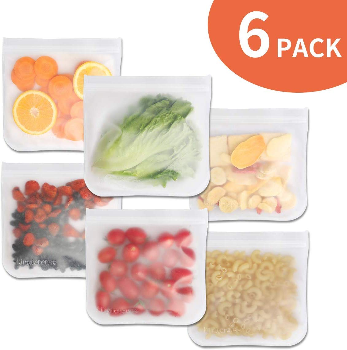 Reusable Food Storage Bags (6 Pack)