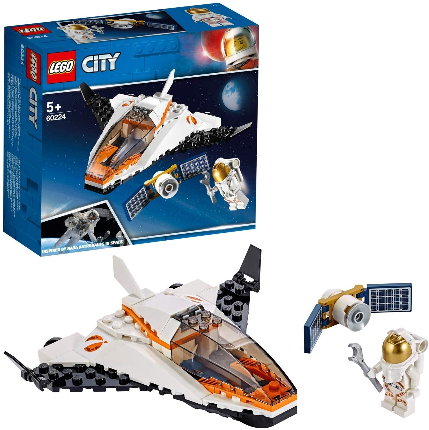 LEGO City Satellite Service Mission Mini Space Shuttle Toy
