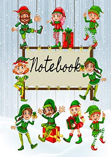 Pack of 5 Fun Christmas Elf Notebooks