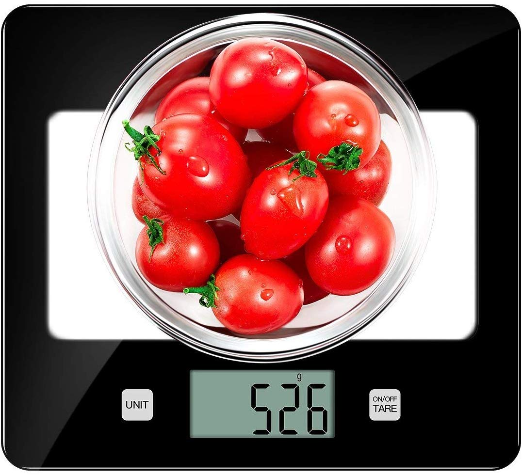 Kitchen Scales, CUSIBOX Glass Digital Food Scales 11Ib/5kg