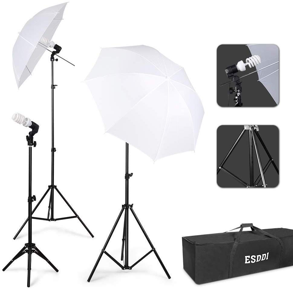 ESDDI Photography Lighting – Umbrella Lights Kit 600W 5500K Portable Continuous Day Light