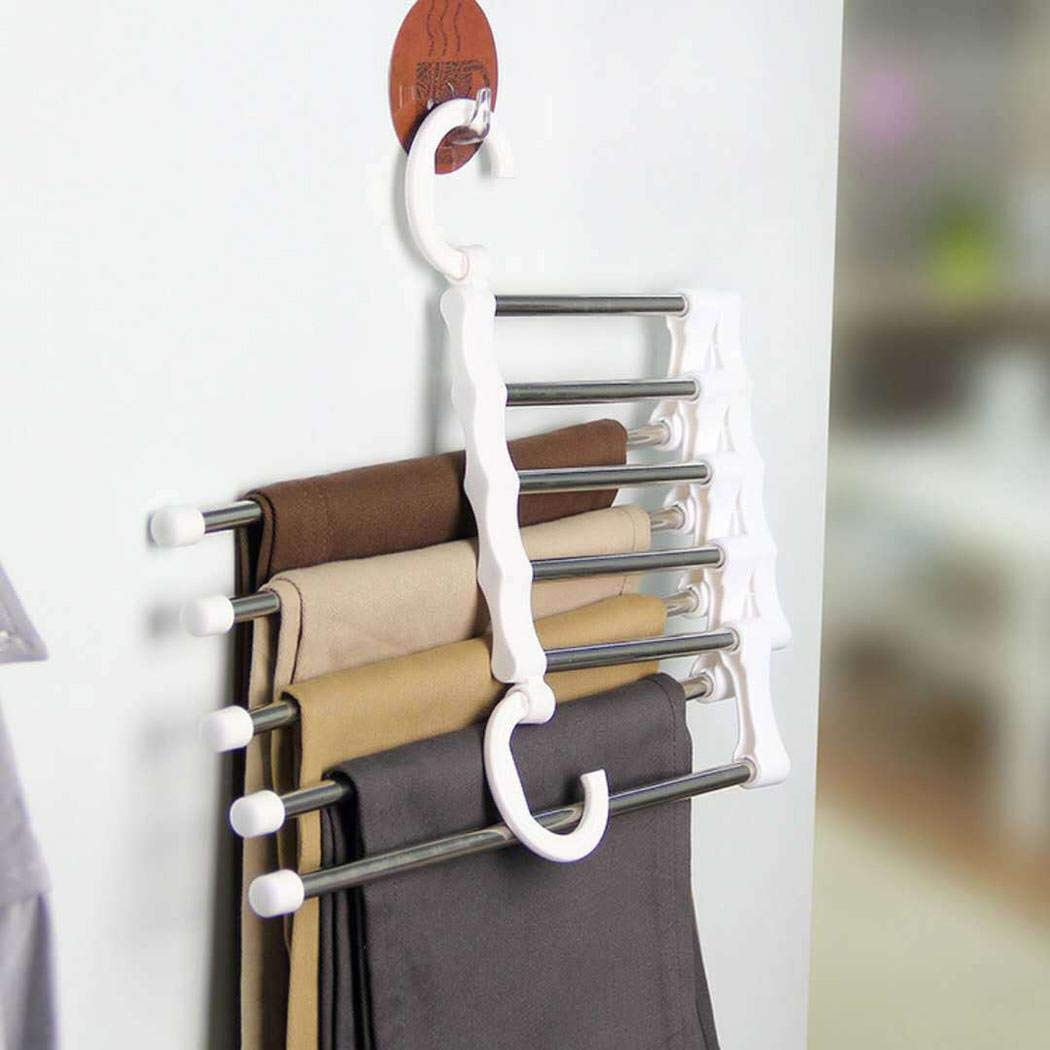 80% off Multi Layers Hangers Closet Jeans Trousers Storage Organizer Rack