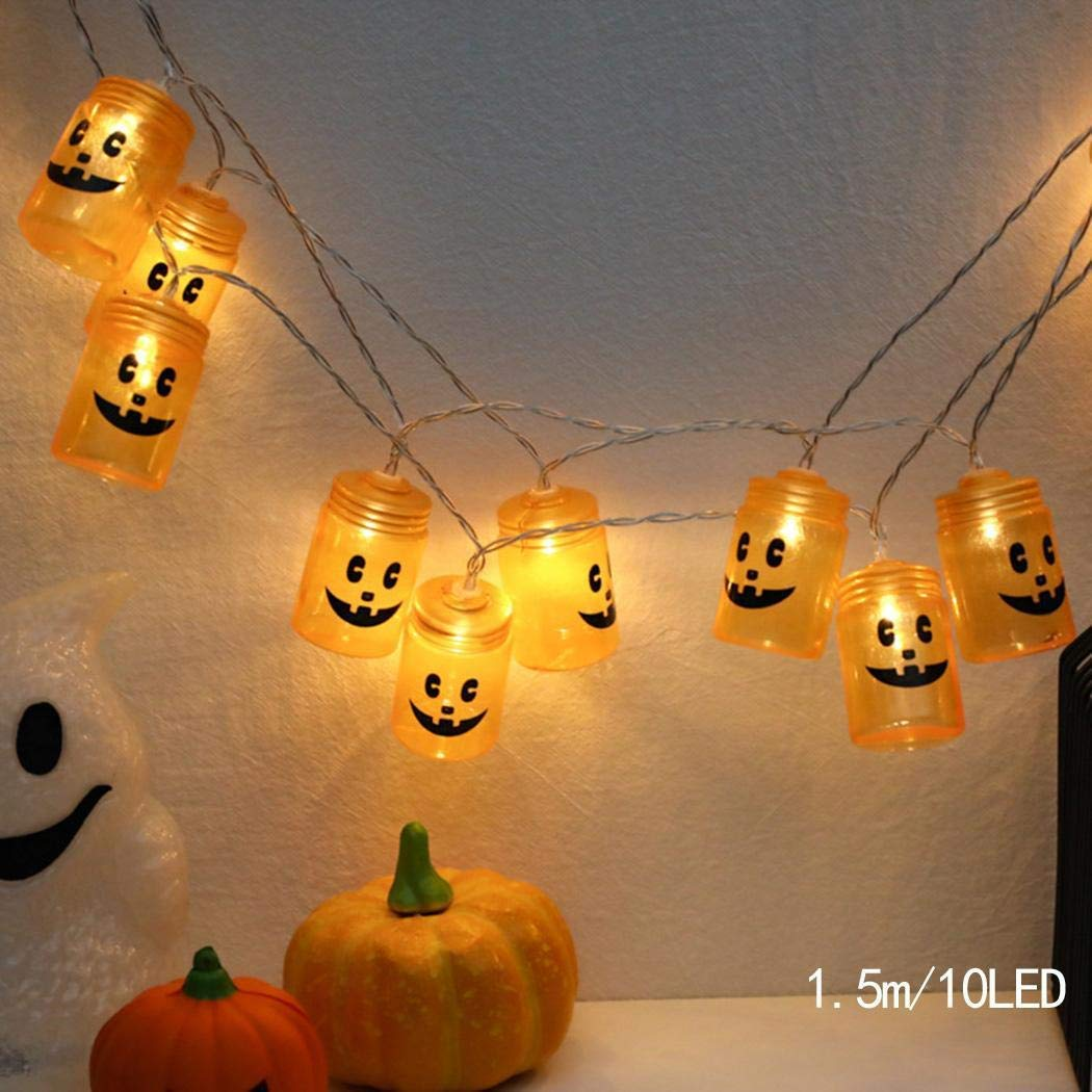80% off Halloween LED Decorative Lights Pumpkin Shape Tree Lights Outdoor String Lights