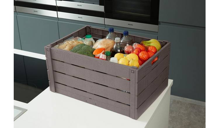 Strata 60 Litre Wood Effect Folding Crate on Argos