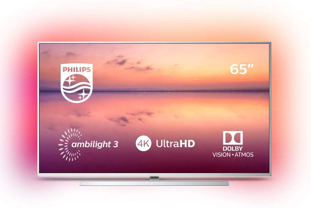 Philips Ambilight 65PUS6814/12 TV 65 inch LED Smart TV (4K UHD, HDR 10+, Dolby Vision, Dolby Atmos, Smart TV)