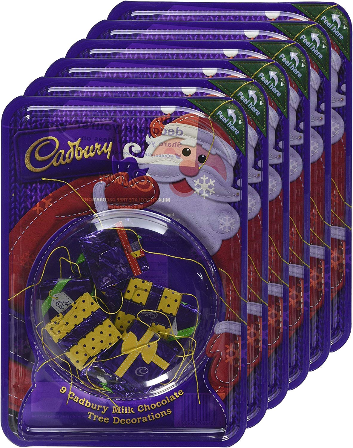 Cadbury Parcel Tree Dec Blister (Pack of 6)