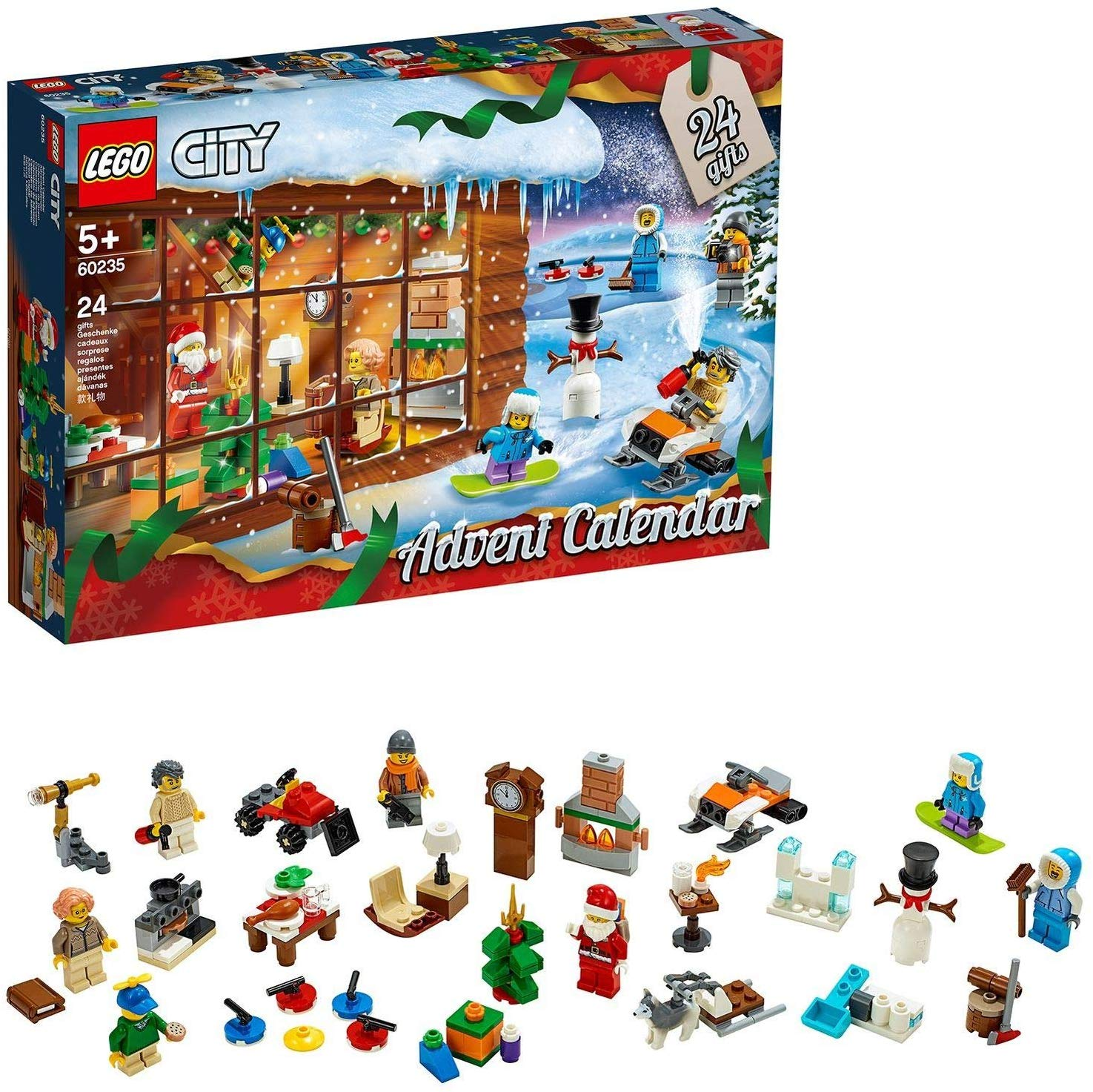LEGO 60235 City Advent Calendar 2019 Set with 24 Buildable Gift Toys
